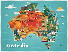 Discover Australia illustrations