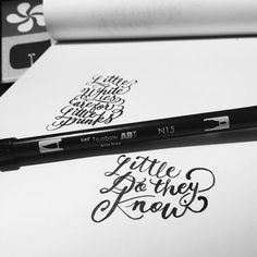 Little do they Know by Jordan Lyle @jamdownflava #lettering #script #design #tombow #hand #typography