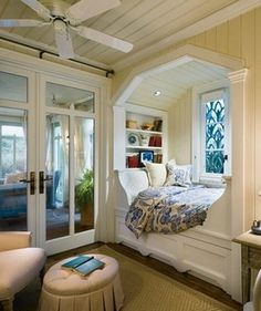Nooks and Crannies #bedroom #bed #decoration