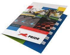 Pride Global Pocket Folder Design | #folder #inspiration #print #cmyk