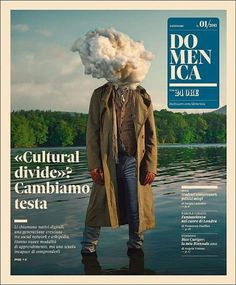 Head in a Cloud - Coverjunkie.com #cover #print #domenica #magazine