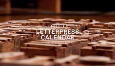 Wooden letterpres calendar on the Behance Network #wood #type #letterpress #haymaker