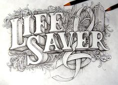 Dribbble - lifesaver-full.jpg by Joachim Vu #type #pencil