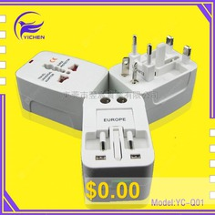 Conversion #Plug #Multi-function #Universal #Conversion #Plug #Global #Pass #Conversion #Plug #Universal #Travel #Conversion #Plug #- #YC-Q01 #DUAL #USB #(WHITE #BOX #PACKAGING)