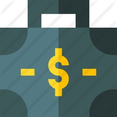 See more icon inspiration related to business and finance, dollar symbol, portfolio, job, professional, briefcase, work, bag, suitcase and money on Flaticon.