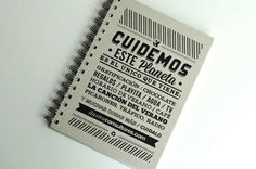 ILUSTRA Notebook 2013 #print #design #ecofriendly #notebook #peru #typography