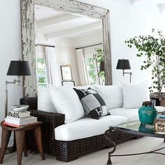 Living room, mirror