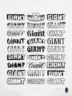 ORIGINAL GIANT CONTENT: Photo #typography #mike giant