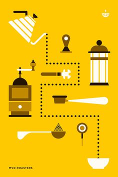 Barista on Behance #infographics #color