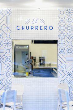 Heavenly White & Blue Churreria El Moro [Mexico City] | Trendland