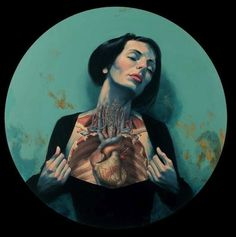 Vanitas on the Behance Network #portrait #painting