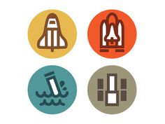 Dribbble Orbiter Processing Icons by Eric R. Mortensen #icon #logo #illustration