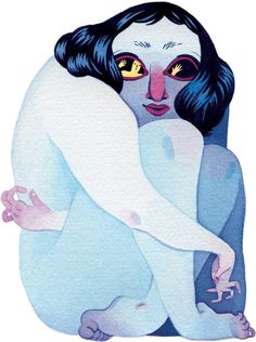 Anxiety: My Monster, My Self Slide Show NYTimes.com #davis #illustration #eleanor #watercolor