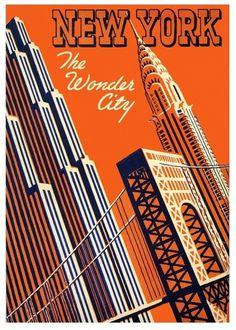 All sizes | The Wonder City | Flickr - Photo Sharing! #illustration #vintage #new york