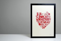 Lots of Love on the Behance Network #print #screen #poster #silk #mailer #typography