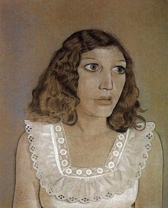 Artwork Girl in a White Dress by Lucian Freud
