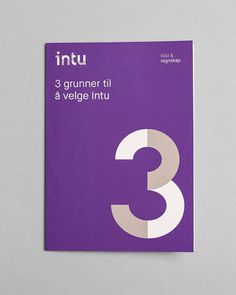 Logotype and print by Heydays for Norwegian accounting and consultant firm Intu #logotype #print #norwegian #consultant #heydays #intu #firm #accounting