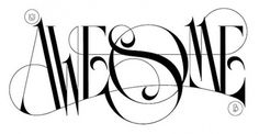 Typography / awesome #awesome