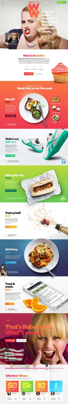 Weight Watchers on Behance #inspiration #scroll #colors #layout #web