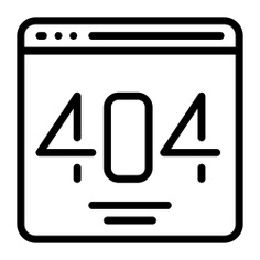 See more icon inspiration related to error, code, number, browser, page not found, error 404, ui, seo and web, 404 error, programming, website, interface and computer on Flaticon.