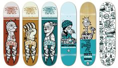 Roger decks by Michael Sieben #deck #collection #illustration #skate