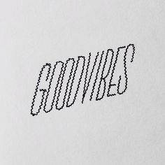 goodvibe, handlettering, typography