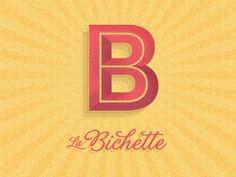 All sizes | WIP Logo for La Bichette 2 | Flickr - Photo Sharing! #type #branding