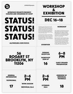 Status! Status! Status! – E Roon Kang