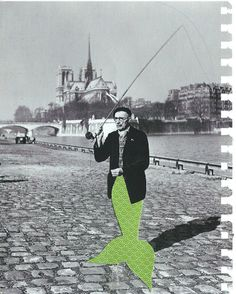 1950s merman, paris (collage series) - 3