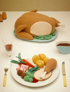 Woolly christmas dinner david sykes photography #design #illustration #knitting