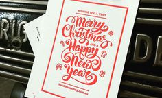 Designer Letter pressed Inspiration Invites #design #Invitation #christmas #typography #Inspiration #graphicdesign www.handlebranding.com.au