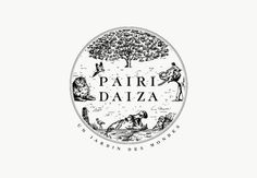Pairi Daiza #logo #illustration #monotone #animals