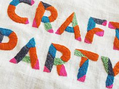 Etsy Craft Party #type #color #etsy #typography