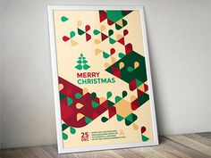 Modern Christmas Flyer You can download it here: http://graphicriver.net/item/modern-christmas-flyer/9587884?ref=abradesign #pattern #flyer #design #graphic #christmas #poster