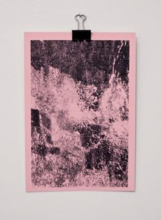 | Underwater photo. Ink transfer. Meg Jannott. #water #pink #transfer #print #design #photography