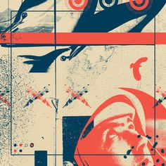 Fragments Tile 3/12 Art Print #mountain #astronaut #print #feather #geometric #map #bird #grid #art #tile #flowers