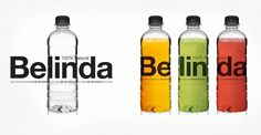 22DG Portfolio Belinda #water #bottle #packaging #22dg #identity #juice #belinda #helvetica #typography