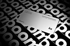 layout // Kaboom Communication Design Business Card #card #business