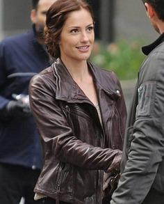 Minka Kelly Almost Human Leather Jacket (3)