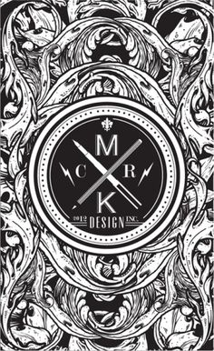 MKCR by ~alienbiru #white #black #pen #and #logo #pencil
