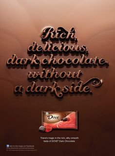 Dove Chocolate | Jessica Hische #chocolate #script #texture #typography