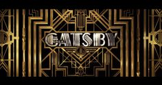 THE GREAT GATSBY #branding #direction #art #deco #typography