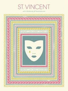 GigPosters.com - St. Vincent - Wildbirds & Peacedrums #doublenaut #gig #design #print #screen #illustration #poster
