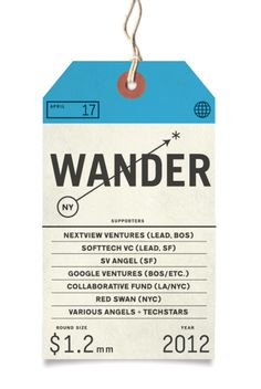 Wander_Funding_041712_2 #packaging #print #wander #tag #typography