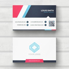 Blue, red, and white business card Free Psd. See more inspiration related to Logo, Business card, Mockup, Business, Abstract, Card, Template, Office, Visiting card, Presentation, Stationery, Corporate, Mock up, Company, Modern, Branding, Visit card, Identity, Brand and Mockup template on Freepik.