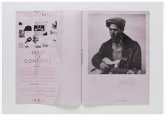 kyle poff - Krop Creative Database #pink #of #contents #table #editorial #magazine