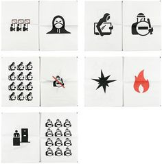 Riot Pictograms : loft27design #irish #icons #pictograms
