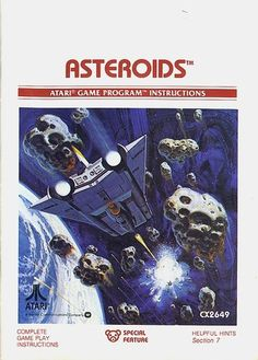 Atari - Asteroids | Flickr - Photo Sharing! #games #video #illustration #manual #booklet
