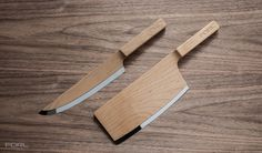 The Federal Maple Set Knives #design #product #industrial #craftsmanship #engineering