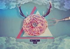 (2) Alex Tiene Ojos Graphic #donuts #pink #print #graphic #art